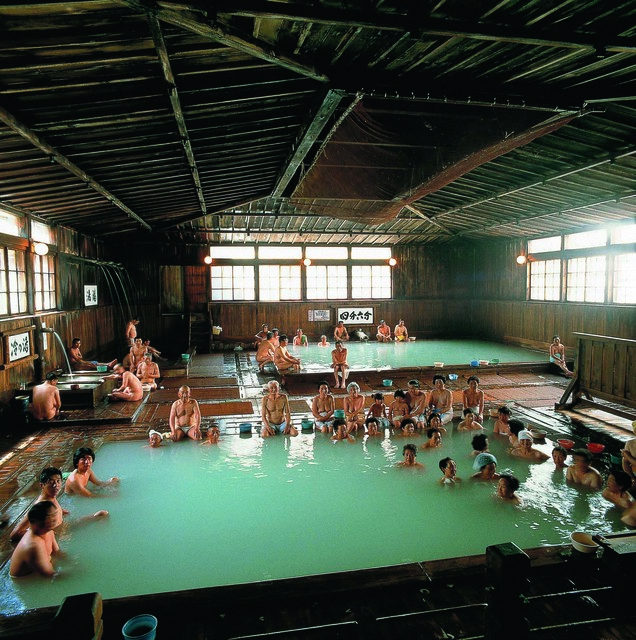 Hiba-sennin-buro of Sukayu Hot Spring