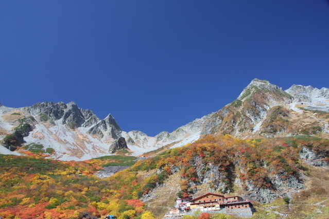 Karasawa Cirque in autumn
