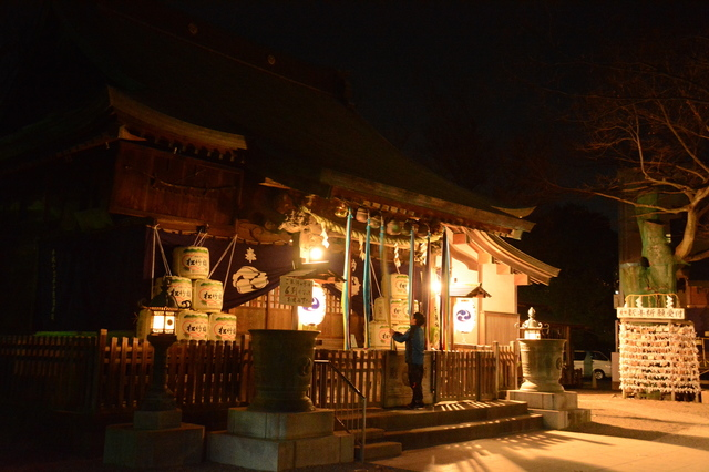 Matsudo Shrine in the season of Hatsumōde, 2017