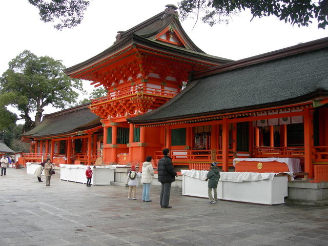 Usa Shrine in the season of Hatsumōde